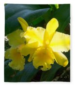 Daffodils In The Wild Fleece Blanket