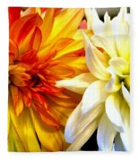 Dahlia Days Fleece Blanket