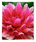 Dahlia Dew Drops Fleece Blanket
