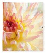 Dahlia Flower 01 Fleece Blanket