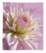 Dahlia Flower Pretty In Pink Fleece Blanket