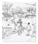 Daily Life In South And Center Cameroon 02 Fleece Blanket