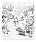 Daily Life In South And Center Cameroon 03 Fleece Blanket