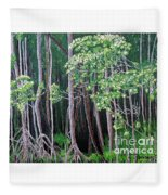 Daintree Forest At Twilight Fleece Blanket