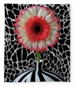Daisy And Graphic Vase Fleece Blanket