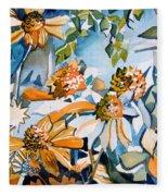 Daisy Carnival Fleece Blanket