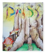 Daisy Fairy Illustration Fleece Blanket