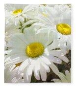 Daisy Summer Garden Fleece Blanket