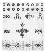 Daltons Symbols Fleece Blanket