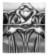 Dance Of The Black And White Calla Lilies Vi Fleece Blanket