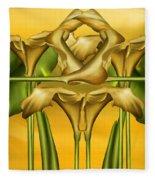 Dance Of The Yellow Calla Lilies II Fleece Blanket