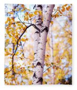 Dancing Birches Fleece Blanket
