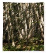 Dancing Birches Fleece Blanket