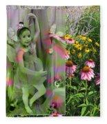 Dancing Girl In Flowers Fleece Blanket
