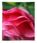 Dancing Petals Of The Camellia Fleece Blanket