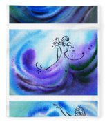 Dancing Water V Fleece Blanket