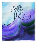 Dancing Water Vi Fleece Blanket