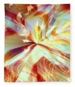 Dancing With Fire Fleece Blanket