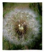 Dandelion Going To Seed Fleece Blanket