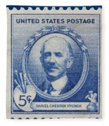Daniel Chester French Postage Stamp Fleece Blanket