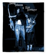 D J  And R D  Playing The Blues 1977 Fleece Blanket