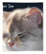 Daphne Cat Miss You Fleece Blanket