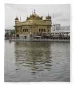 Darbar Sahib And Sarovar Inside The Golden Temple Fleece Blanket