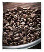 Dark Chocolate Chips Fleece Blanket
