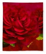 Dark Pink Rose Fleece Blanket