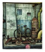 Dark Places Tell Stories Fleece Blanket