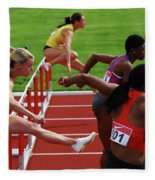 Dash To The Finish Fleece Blanket