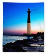 Dawn At Barnegat Light Fleece Blanket