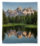 Dawn At Schwabacher Landing Fleece Blanket