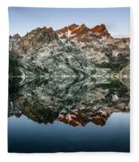 Dawn At Upper Sardine Lake Fleece Blanket