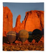 Dawn Flight In Monument Valley Fleece Blanket