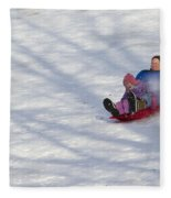 Dawn Flora Sledding 12812c Fleece Blanket