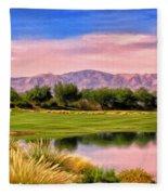 Dawn On The Golf Course Fleece Blanket