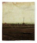 Dawn On The Lake Fleece Blanket