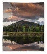 Dawn On The Snake River Fleece Blanket