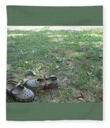 Day At The Lake Fleece Blanket