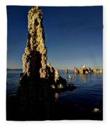 Daybreak On Mono Lake Fleece Blanket