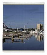 Daytona Boat Launch Fleece Blanket