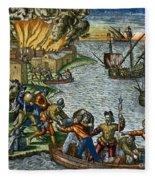 De Bry: Chicora, 1590 Fleece Blanket