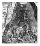 De Bry: Potosi, 1590 Fleece Blanket