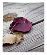 Dead Leaves Fleece Blanket