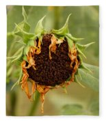 Dead Sunflower Fleece Blanket