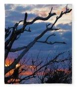 Dead Trees At Sunrise Fleece Blanket