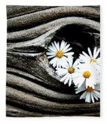 Dead Wood And Asters Fleece Blanket