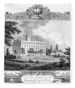 Deaf And Dumb Asylum, 1835 Fleece Blanket