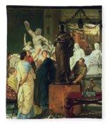Dealer In Statues  Fleece Blanket